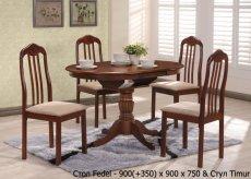 Фото - Стол Fedel и стулья Timur