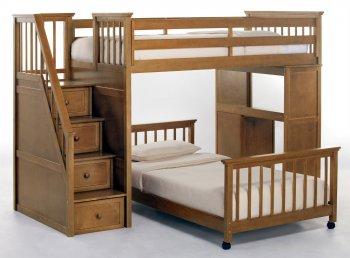 Фото - Двухъярусная кровать-чердак Мирон