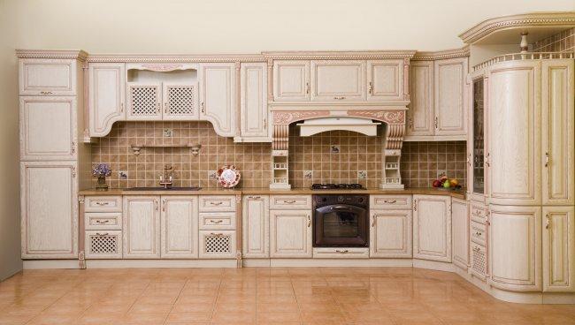 Фото - Lis-3 (Кухня №3, дуб, цвет №1015 с медной патиной)