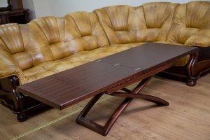 Раскладной стол журнальный-обеденный (Натуральный дуб) Bigus