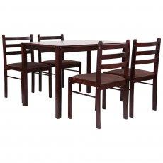 Фото - Комплект обідній Брауні (стіл+4 стільця)