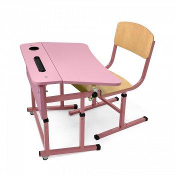 Фото - Комплект парта + стілець одномісний для НУШ без полиці