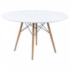 Фото - Білий круглий стіл Тауэр Вуд 1200 мм