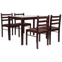 Комплект обідній Брауні (стіл+4 стільця)