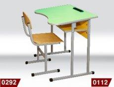 Фото - Стіл учнівський 0112 і стілець Т-Образний 0292